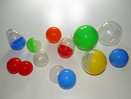 Bolas de plástico para máquinas expendedoras