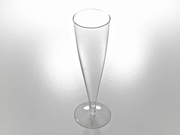 COPA PIE TRANS 600x450 - Copa de plástico cristal con pie transparente 150cc