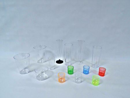 Gama vasos de plástico cristal