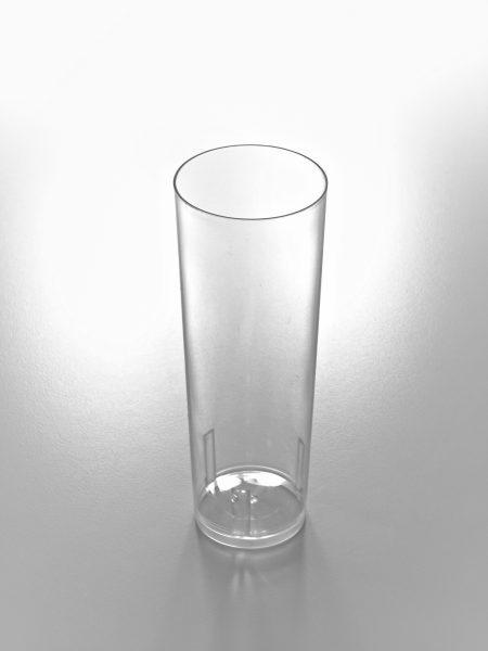 TUBO 330 450x600 - Vaso de tubo de plástico cristal 330cc