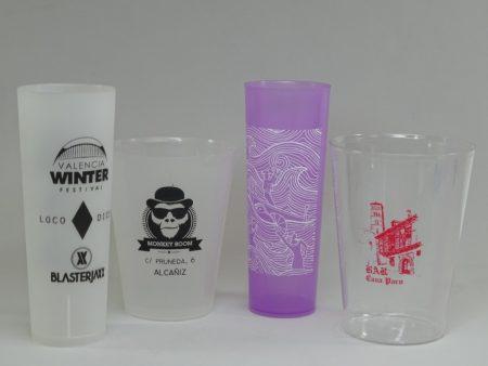 Vasos de plástico personalizados con su publicidad